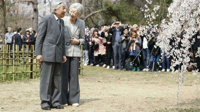 Emperor Akihito and Empress Michiko visit Kyoto, March 2019.
