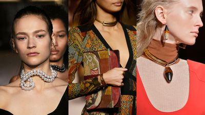 <p><strong>Chokers:</strong> They may conjure up images of '90s grunge, but this season the choker gets a refresh via precious jewels and metals. To win the style stakes go statement or go home.</p>