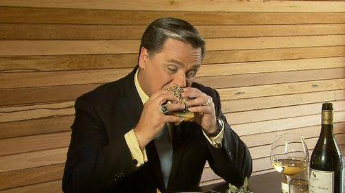 9NEWS' Allan Raskall gave the luxury burger a go.