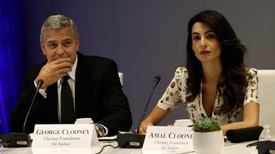 Amal and George have made several humanitarian appearances as a couple. (AAP)