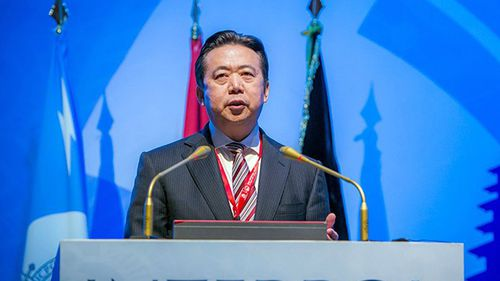 The Lyon-based international police agency said it used law enforcement channels to submit its request to China about the status of Meng Hongwei.