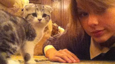 <i>People</i> don't get much cuter than Taylor Swift, so it stands to reason that her Scottish Fold kitten, Meredith, should be cute as hell, too.