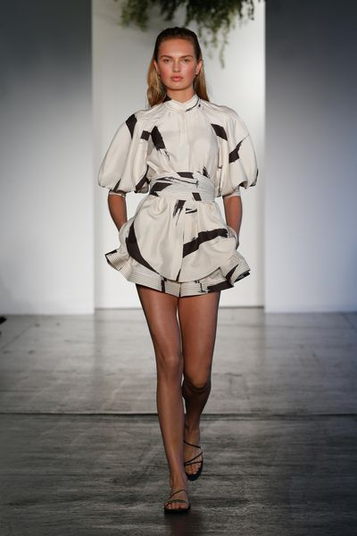 "<p>There was a cool confidence to Australian label Zimmermann's New York runway show for resort embodied by model Romee Strijd who opened the romantic presentation.<br /> <br /> The <a href=""http://style.nine.com.au/2016/12/01/07/46/victorias-secret-2016-paris-gigi-bella-adriana-kendall"" target=""_blank"">Victoria's Secret</a> angel led the way with textured linens, cotton day dresses and painterly strokes ushering in the new season. <br /> <br /> ""Resort is always a collection for us to have fun with, to keep relaxed and to explore ideas and themes that are inherently Zimmermann at their heart. Our muse for the season is passionate, creative, she&rsquo;s feminine but strong and independent,"" says the label&rsquo;s creative director Nicky Zimmermann.<br /> <br /> The Australian brand, which found fame with swimwear had been focusing on the US with stores in Los Angeles and New York. &nbsp;</p> <p> See their latest looks here.</p> <p><em><strong>Romee Strid for Zimmermann Resort '18, New York&nbsp;</strong></em></p>"