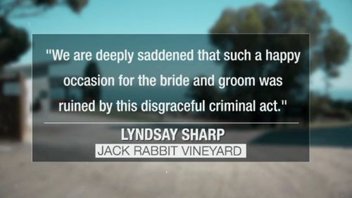 The wedding venue issued a statement, expressing deep sympathy to the couple affected. (9NEWS)