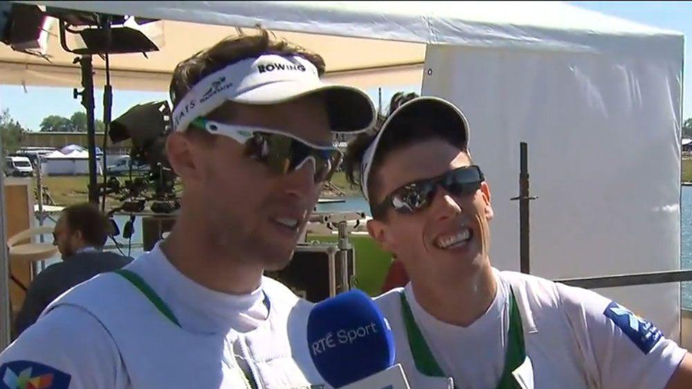 Irish rowers Mark O'Donovan and Shane O'Driscoll.