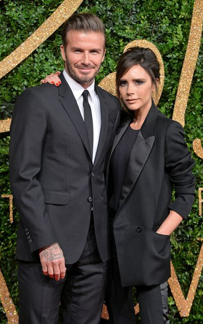 "David and Victoria have couple dressing down to a fine art in sleek black suits at the British Fashion Awards in London 2015.<br style=""box-sizing: border-box;"" />"