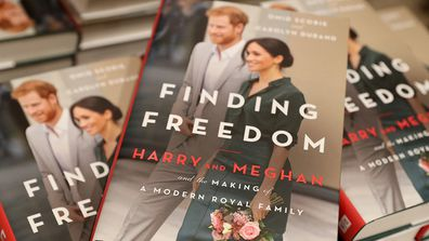 Copies of 'Finding Freedom' are stacked up in Waterstones Piccadilly  on August 11, 2020 in London, England.