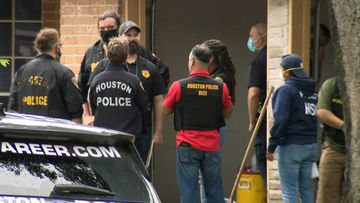 Houston Police have found 90 people crammed into a two-storey house.