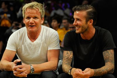 Celeb chef and all-around intense guy Gordon likes to chill with pro-footballer David Beckham. Pic: Getty