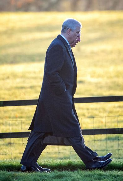 Prince Charles Prince Andrew Christmas Day Sandringham church