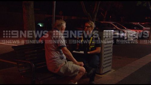The thug has been arrested and is being questioned by police. (9NEWS)