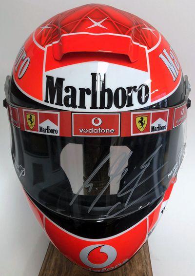 Michael Schumacher signed Ferrari helmet