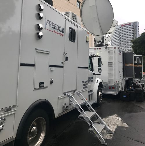 One of the trucks used to bring breaking news on September 11 to Australia.