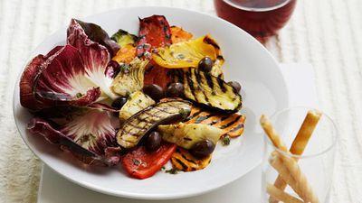 "Recipe: <a href=""http://kitchen.nine.com.au/2016/05/17/09/49/chargrilled-vegetable-salad"" target=""_top"">Chargrilled vegetable salad</a>"