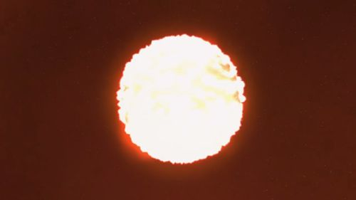 he final explosion of the star, which happened about 1.3 billion light years away from earth, lasted only a few days . (NASA)