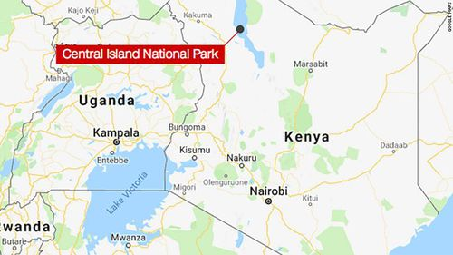 The helicopter crashed in the Central Island National Park in Lake Turkana on the country's northern border.