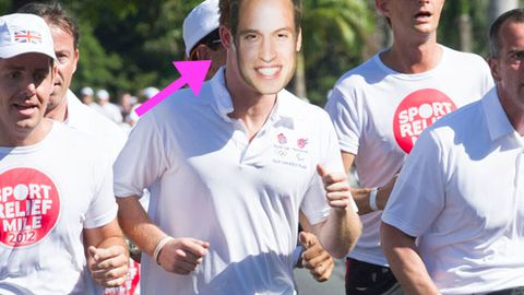 Is that Prince Harry in a Prince William mask?