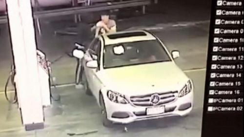 A Mercedes-Benz was carjacked from a Yeronga service station on Tuesday.