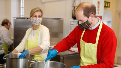 The Earl and Countess of Wessex joined volunteers at Food Wise TLC, a Surrey based charity providing cooking courses to those on low incomes. The royals helped prepare meals for families living locally yesterday.
