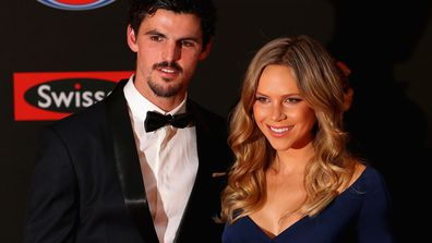 Scott and Alex Pendlebury - husband and wife and soon-to-be parents too. Image: Getty.