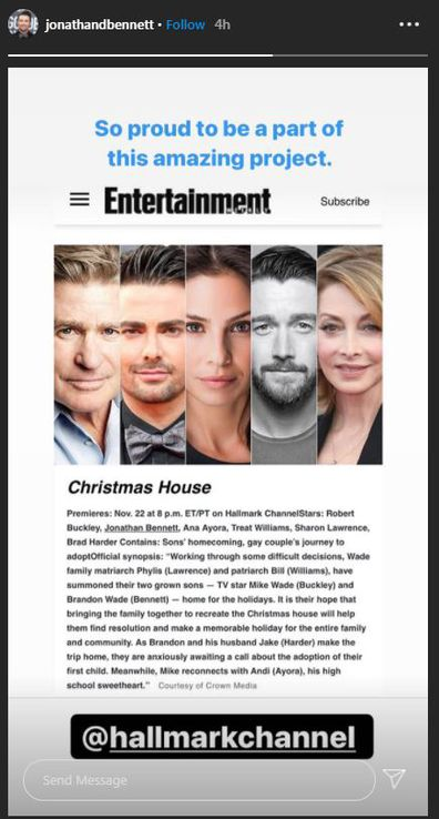 Jonathan Bennett, Mean Girls, Hallmark Christmas movie