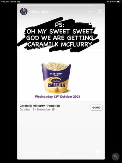 Leaked image of McDonald's Caramilk McFlurry