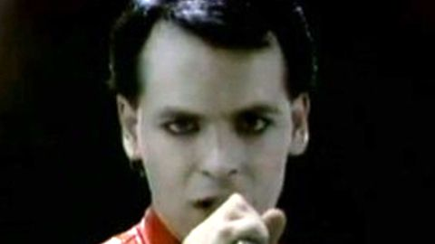 Gary Numan from the music video of his hit song Cars.