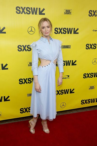 <p>The annual South by Southwest festival, which celebrates the convergence of the technology, film, and music industries, took place in Texas this weekend and the A-list sure brought their A-game to the red carpet.</p> <p>Emily Blunt was a sartorial standout in Prabal Gurung, while Olivia Wilde stunned in Carolina Herrera and Elle Fanning  wore the pants in a Ganni pinstripe two piece.</p> <p>Click through to see the stars putting a well heeled foot forward…</p>