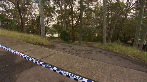 The area has been cornered off as police investigate. Picture: 9NEWS