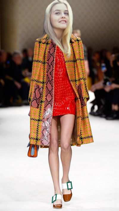 "<p>This look from Miu Miu AW15 would be her ""most capable looking outfit"".</p>"