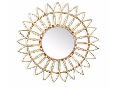 Marley Rattan Sunflower Mirror — The Block Shop