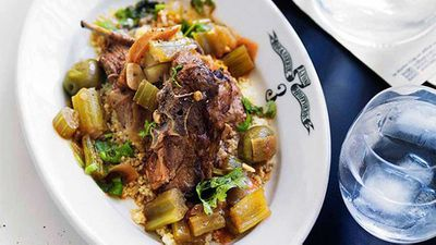 "Recipe: <a href="" http://kitchen.nine.com.au/2016/05/16/16/38/moroccan-braised-lamb-neck"" target=""_top"" draggable=""false"">Moroccan braised lamb neck</a>"