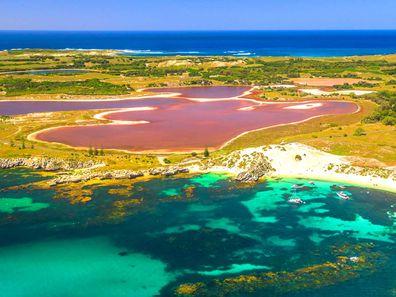 Rottnest pink lakes