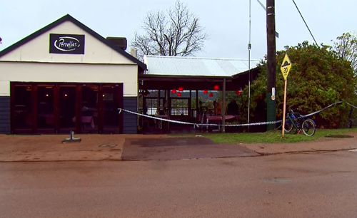 The gunman entered the cafe at about 6:30am this morning.