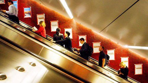 Commuters stage citizen's arrest of alleged upskirter at Sydney train station