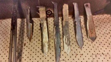 A court has released images of the knives seized from a student who threatened staff and classmates at a South Australian school.