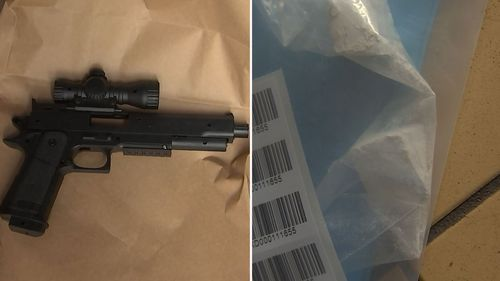 Replica firearms and heroin