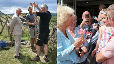 Prince Charles and Camilla in Cornwall, July 2019