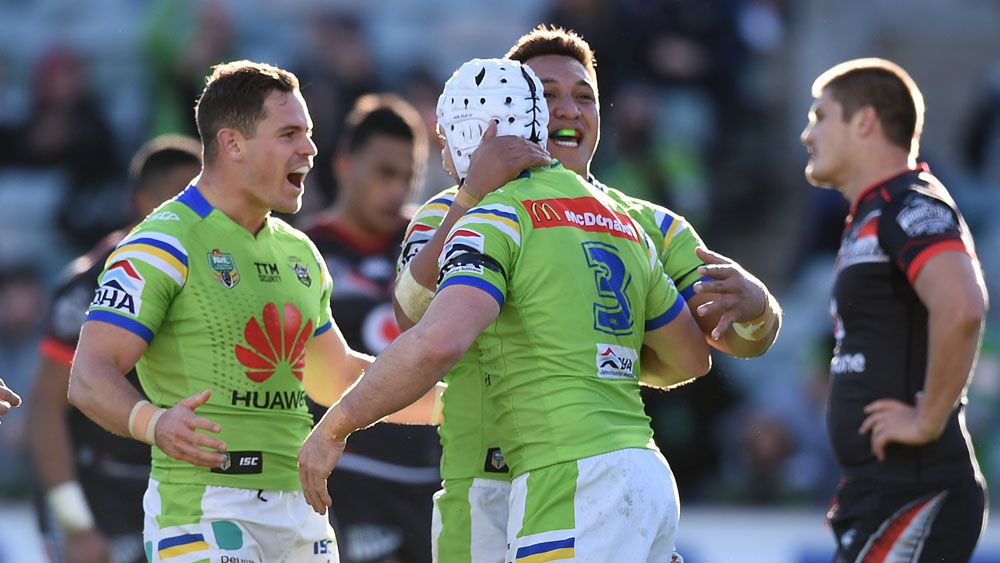 Raiders in NRL top four with golden win