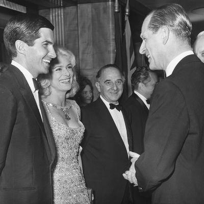 George Hamilton and Melina Mercuri