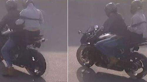 The pair fled with cash from the till. (Victoria Police)