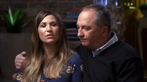 Barnaby Joyce has revealed he pursued women for years before meeting former staffer Vikki Campion. Picture: Seven Network