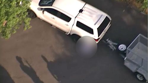 A four-wheel drive with a box trailer was reversing out of driveway when the accident occurred. (9NEWS)