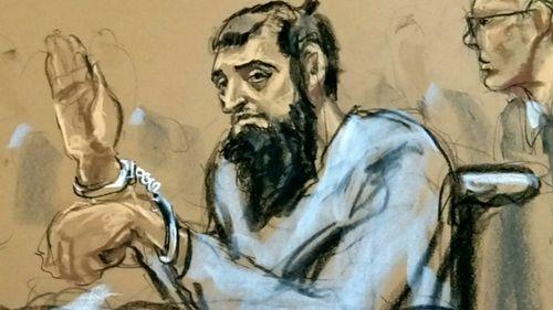 Sayfullo Saipov in a courtroom sketch.
