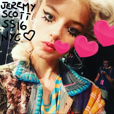 <p>It ain't easy being a model. To wrap up a stellar new season, Australian model Georgie Perkins shares her fashion week diary from New York, Milan and Paris exclusively with Honey.&nbsp;</p><p>Jeremy Scott, New York Fashion Week</p>