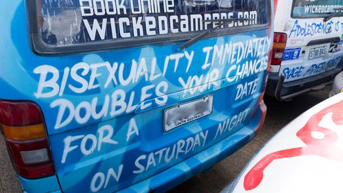 Wicked camper slogans labelled 'violent, sexist' by activists