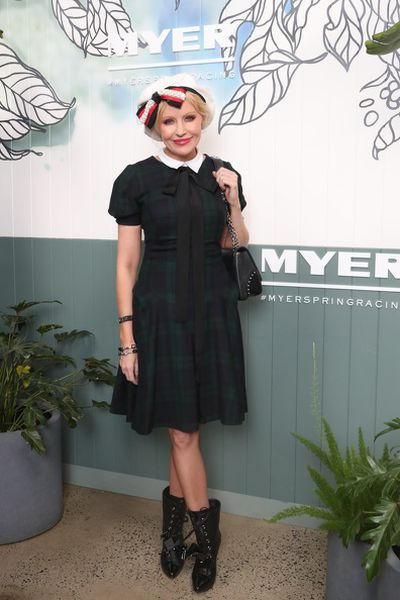 Milliner Nerida Winter at the Myer Spring Racing 2017 Launch.