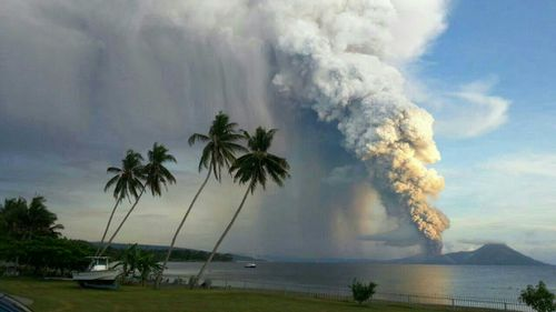 PHOTOS: Incredible scenes as PNG volcano spews ash and smoke into sky