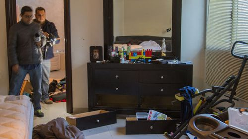 Photos have emerged of the less-than-luxurious room in which the millionaire drug lord was found hiding out. (AFP)