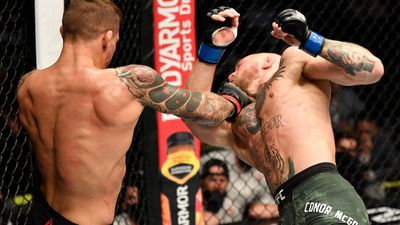 Poirier gets the better of McGregor at UFC 257. (Getty)